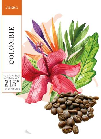 COLOMBIE - EXCELSO - CAFE GRAIN - 250 G